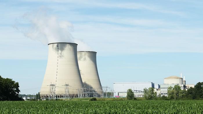 una centrale termoelettrica atomica
