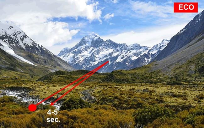 un esempio di eco in montagna